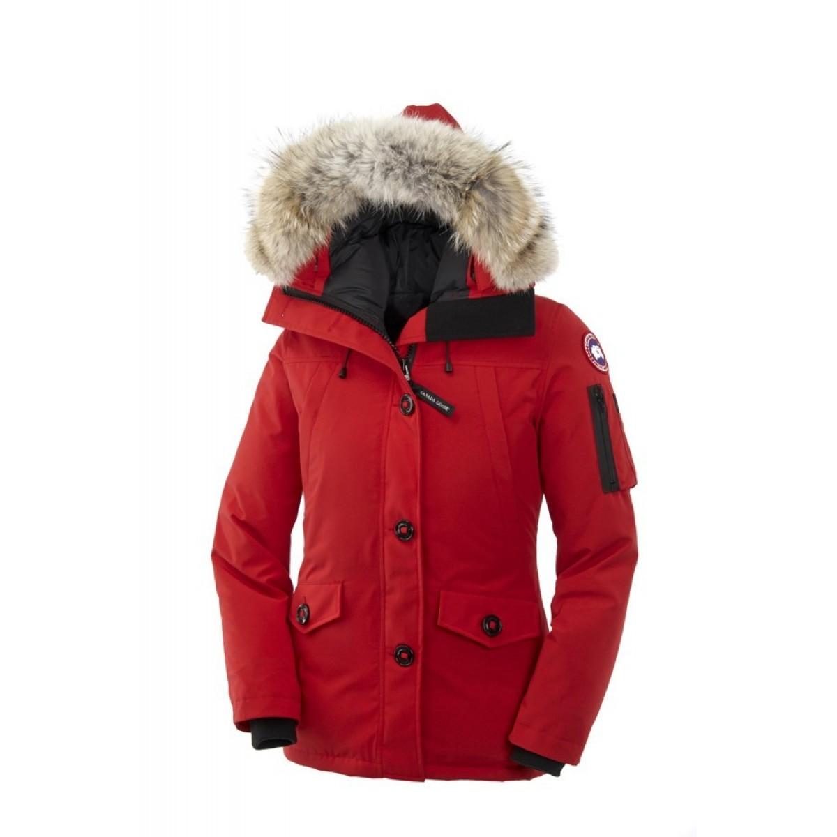 Canada Goose Montebello Parka Rouge Femme en Solde - Canada Goose ... fac1e1bc0f65